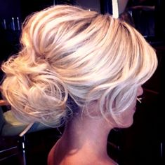 Wedding hairstyle loose low bun bouffant | wedding