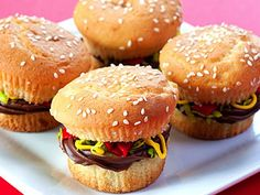 Hump Day Snack: Mini Burger Cupcakes | Devour The Blog: Cooking Channel's Recipe and Food Blog