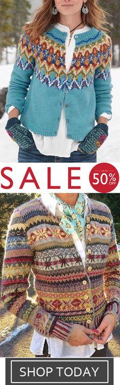 Coats Halloween Sale, Save Up to Off Nordic Sweater, Halloween Sale, Sweaters For Women, Winter Sweaters, Moda Online, Clearance Sale, Bohemian Style, Boho Fashion, Knit Crochet