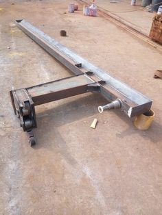 Homemade Tools, Diy Tools, Truck Mounted Crane, Garage Lift, Gantry Crane, Welding Table, Metal Projects, Steel Structure, Garage Workshop