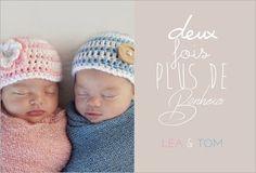 Faire part jumeaux naissance