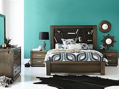 Polygon Bed Frame: Queen Bed Frame