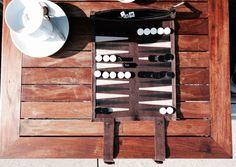 Sondergut Reise-Backgammon aus Leder