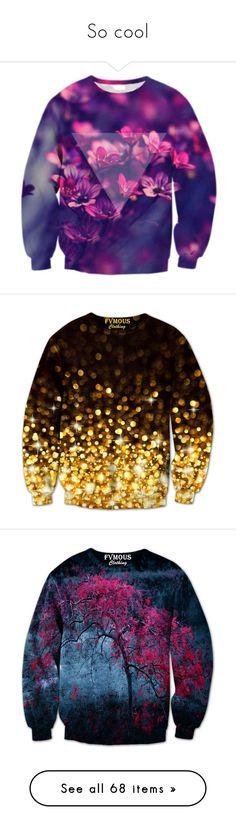 """So cool"" by laurah-468 ❤ liked on Polyvore featuring tops, hoodies, sweatshirts, sweaters, shirts, jumpers, purple crewneck sweatshirt, patterned sweatshirt, crewneck sweatshirt and crew neck shirt"