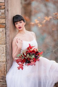 Just sitting here dreaming about fall. So far October has been HOT and I'm looking forward to cooler days ahead! Here's hoping this is our last hot week here in DC! Photo by Hair and makeup by . Bridal Bouquet Fall, Fall Bouquets, Bridal Bouquets, Fall Wedding, Our Wedding, Feather Photography, Wedding Beauty, Wedding Makeup, Wedding Inspiration