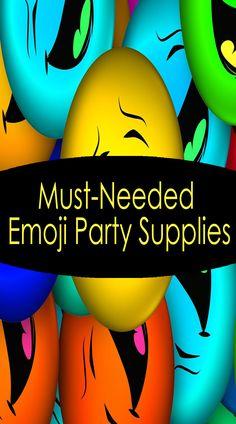 Must-Needed Emoji Party Supplies Emoji Theme Party, Emoji Party Supplies, Theme Parties, Party Themes, 5th Birthday Party Ideas, 3rd Birthday, Free Emoji Printables, Emoji Pinata, Cool Emoji