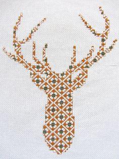 Cross Stitch Deer Head My deer