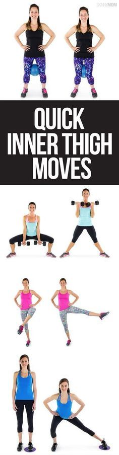 Fitness moves for your inner thighs that are the perfect at home workout! Full workout plan with cardio to lose weight fast.