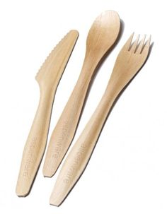 Aspenware Cutlery Event Bundle - 170 Forks, Knives, Tea Spoons. Made in North America, completely biodegradable.