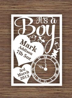 It's A Boy PDF SVG Commercial Use Instant Download von ArtyCuts