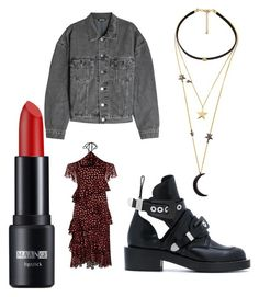 you are my moon by rzanikou on Polyvore featuring polyvore fashion style Alice + Olivia Yeezy by Kanye West Balenciaga WithChic clothing