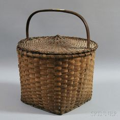 Woven Splint Covered Basket✖️No Pin Limits✖️More Pins Like This One At FOSTERGINGER @ Pinterest✖️