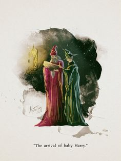 Dumbledore and McGonagall. The arrival of Baby Harry Mundo Harry Potter, Harry Potter Anime, Harry Potter Love, Harry Potter Characters, Harry Potter Universal, Harry Potter Fandom, Harry Potter World, Harry Potter Artwork, Harry Potter Wallpaper