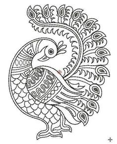 Peacock Embroidery Designs, Crewel Embroidery Kits, Learn Embroidery, Machine Embroidery Patterns, Embroidery Files, Embroidery Thread, Japanese Embroidery, Embroidery Jewelry, Flower Embroidery