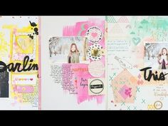 Don't Think About It, Just Do It : Scrapbook Process by Wilna - YouTube