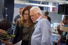 "Mary McDonnell and Major Crimes | Mary McDonnell and GW Bailey on the set of ""Major Crimes."""