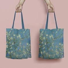 Vincent Van Gogh tote bag  Almond Blossom linen tote bag