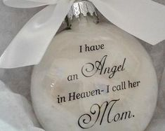 Mother Memorial Ornament Angel in Heaven I call her Mom - Loss of Parent In Memory Sympathy Gift Remembrance Bauble Remembering Momma Mama Christmas In Heaven, Christmas Angels, Christmas Bulbs, Christmas Decals, Christmas Candle, Christmas Things, 1st Christmas, Christmas Crafts, Brick And Mortar