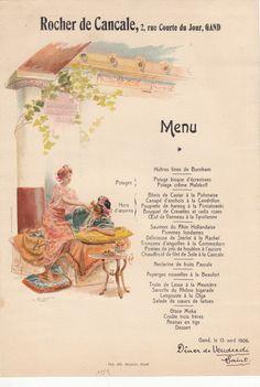 Menu, 13/04/1906, Rocher de Canale, Ghent, Belgium #Booktower