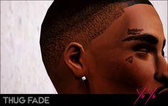Sims Thug fade Hair