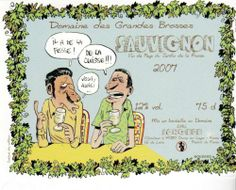 Etiquette VIN BD Bouzard Guillaume Festival Angers 2007 Plageman Mitroll |