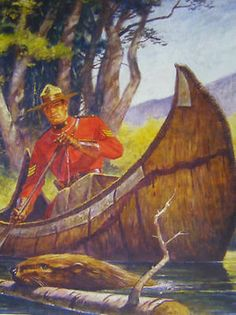 A hearty dose of vintage Canadian charm (beaver very much included, naturally), and an RCMP (Royal Canadian Mounted Police) officer. All About Canada, Canadian History, Canadian Culture, Canada Eh, Pub, Canoe And Kayak, Canoe Trip, Le Far West, Vintage Travel Posters