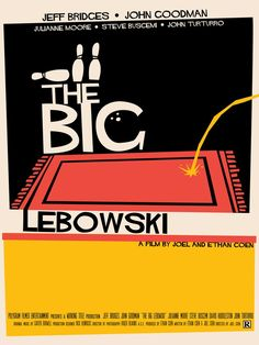 I may be beating a dead horse with the minimal posters, but I did a few Saul Bass-ish designs for a class. The Big Lebowski Best Movie Posters, Minimal Movie Posters, Minimal Poster, Cinema Posters, Cool Posters, Big Lebowski Poster, The Big Lebowski, Norman Rockwell, Illustration Photo
