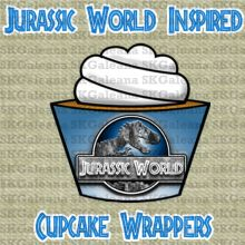Cupcake wrappers Free Printable   Jurassic World Printables, Activities and Crafts   SKGaleana