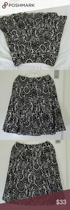 ANN TAYLOR 100% SILK SKIRT *always a great idea to check your measurements on any & all clothing* Zipper on side 22-28 waist 24 length Ann Taylor Skirts Midi