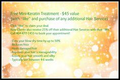 Free Mini-Keratin Treatment! $45 value www.spencermalayhair.com