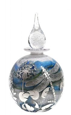 Dragonfly and fauna perfume bottle #MyMagnificentObsessions