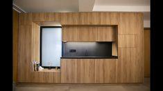 Modern Tv Wall Units, Bedroom Cupboard Designs, Tv Unit Design, Diy Kitchen Storage, Secret Rooms, Wooden Kitchen, Minimalist Kitchen, Cuisines Design, Apartment Design