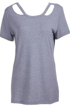 To find out about the Grey Short Sleeve Hollow Cotton T-Shirt at SHEIN, part of our latest T-Shirts ready to shop online today! T Shirt Remake, T Shirt Diy, Tie Dye Shirts, Cut Shirts, T Shirt Reconstruction, Latest T Shirt, Plus Size Shirts, Clothes Crafts, Grey Shorts