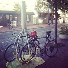 bike rack! how creative!