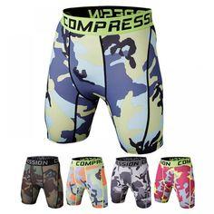2017 Men's compression shorts summer camouflage sports Bermuda surf shorts Men's bodybuilding shorts new brand Camouflage Shorts, Camo Shorts, Shorts With Tights, Leggings, Casual Shorts, Mens Tights, Sport Shorts, Swim Shorts, Bermuda Shorts