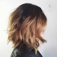Caramel Balayage Long Bob Hairstyle