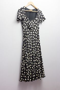 Fenn Wright Manson dark chocolate & taupe dot 100% silk dress size 10 UK #polkadot #dresses #silk #luxe #size10 #forsale