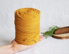 Etsy :: Your place to buy and sell all things handmade Cotton Cord, Rope Decor, How To Make Coasters, Beige Purses, Rope Crafts, Macrame Cord, Etsy Business, Velvet Ribbon, Stitch Markers
