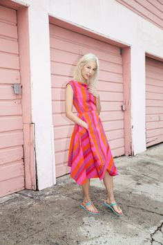 The UGG Australia Bria sandal as worn by @Anja Kuhn conlon. #OneColorDay #Pink