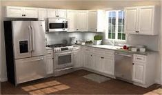 There is no question that designing a new kitchen layout for a large kitchen is much easier than for a small kitchen. A large kitchen provides a designer with adequate space to incorporate many convenient kitchen accessories such as wall ovens, raised. Kitchen Design Small, 10x10 Kitchen, Home Depot Kitchen, Small Kitchen, Kitchen Plans, Kitchen, Kitchen Redo, Kitchen Layout, Kitchen Renovation