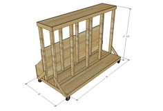 Ana White   Build a Ultimate Lumber and Plywood Storage Cart   Free and Easy DIY Project and Furniture Plans