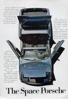 914 : The Space Porsche Porsche 914, Vintage Porsche, Car Advertising, Old Ads, Retro Cars, Classic Cars, Classic Auto, Drag Racing, Vintage Ads