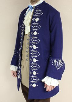 18th Century Hand Embroidered Coat Jacket by ThePeriodTailor, $3000.00