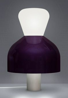 Guillaume Delvigne - Bromo - Lampe à poser - Verre soufflé, porcelaine laquée et aluminium anodisé -  2011
