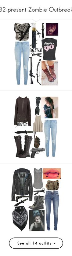 """""""82-present Zombie Outbreak"""" by fuzzybat ❤ liked on Polyvore featuring 7 For All Mankind, Wildfox, Pilot, Greg Lauren, Harley-Davidson, French Connection, Belstaff, Rocio, Étoile Isabel Marant and Circle G"""