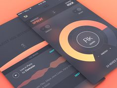 Some early exploration on the an exciting Music App Project.  The final result ended up being completely different on both UI and UX aspects.  You can see the final result here : Music App Animatio...