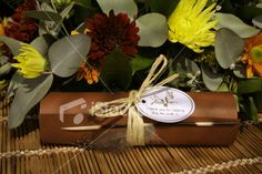 African Wedding Invitation  Stock Photo...love the scroll and raffia