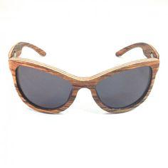 Houten zonnebril Fento Lega Zebra