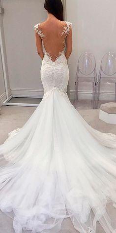 lace low back cap sleeves mermaid wedding dresses galia lahav