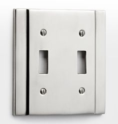 Solid Cast Brass Double Toggle Coverplate Polished Nickel